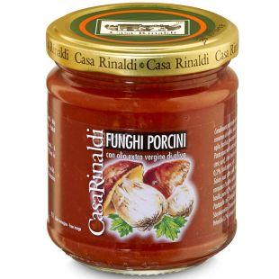 Casa Rinaldi Funghi Porcini, Соус томатний з білими грибами, 190 г