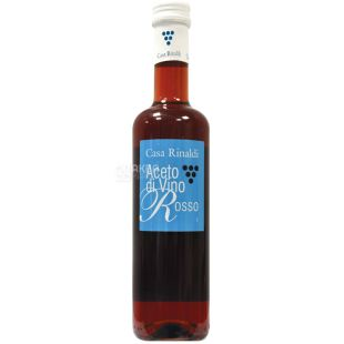 Casa Rinaldi Aceto di Vino Rosso, Red Wine Vinegar, 500 ml