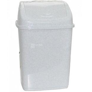 Атма Урна для мусора с поворотной крышкой, белая пластиковая, 18 л