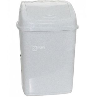 Atma Waste bin with swivel lid, white plastic, 18 l