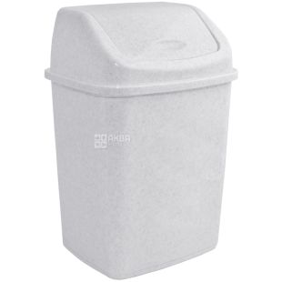 Atma, Waste bin with swivel lid, white plastic, 5 l