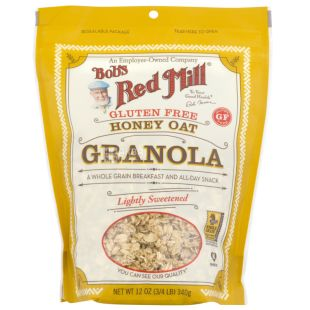 Bob's Red Mill, 340 г, Гранола Бобс Ред Міл, вівсяні пластівці, мед, без глютену