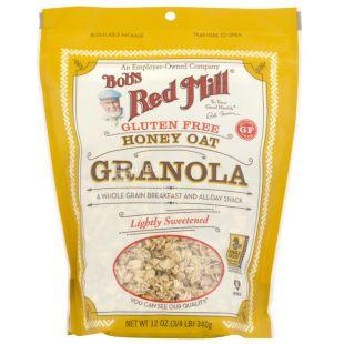 Bob's Red Mill, 340 г, Гранола Бобс Ред Мил, овсяные хлопья, мед, без глютена