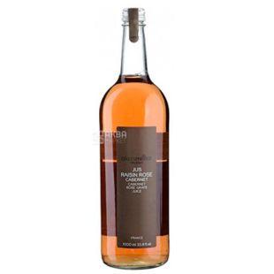 Alain Milliat, Jus de Raisin Rose, Cabernet, 1 л, Ален Миллиат, Сок Розовый виноград сорта Кабарне, стекло