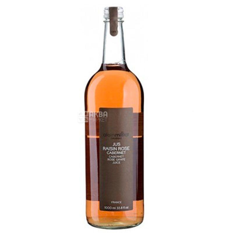 Alain Milliat, Jus de Raisin Rose, Cabernet, 1 л, Ален Мілліат, Сік Рожевий виноград сорту Кабарне, скло