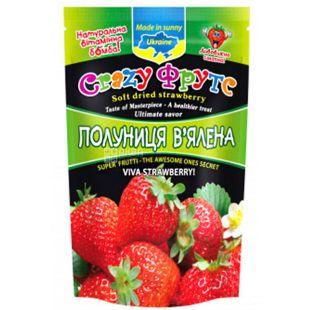Crazy Fruts, dried strawberries, 35 g