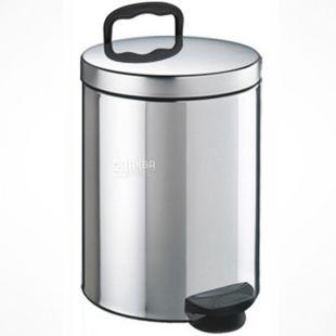 Атма, Урна для мусора с педалью из нержавеющей стали, 5 л