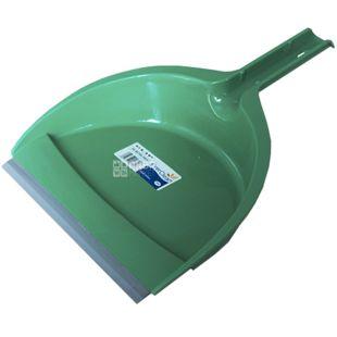 Атма, Совок для прибирання Кліп, зелений, пластик, 24,5х33,5х7,5 см