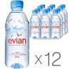 Evian, Вода негазированная, 0,33 л, упаковка 12 шт.
