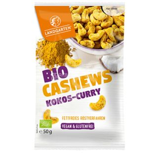 Landgarten Organic Cashews with Coconut and Curry, 50 g