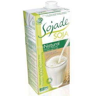 Sojade Soya Natural Organic, 1 л, Сояде, Соєве молоко, органічне, без цукру, солі і лактози