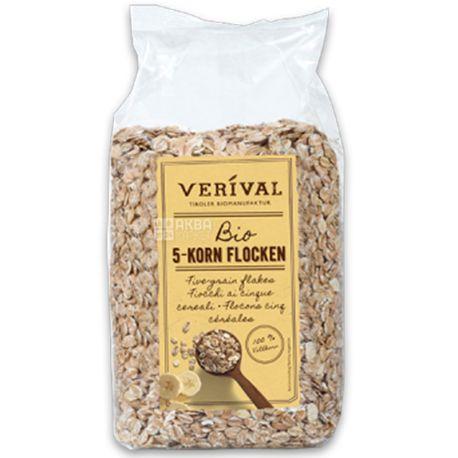Verival, 500 г, Хлопья Веривал, из 5-ти видов зерновых, органические