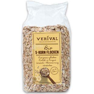 Verival, 500 г, Пластівці Верівал, з 5-ти видів зернових, органічні