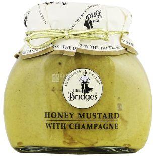 Mrs Bridges Honey Mustard, Горчица медовая с шампанским, 200 г
