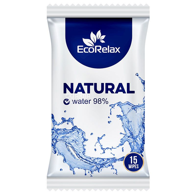 ECORelax, 15 pcs., Wet wipes, m / s