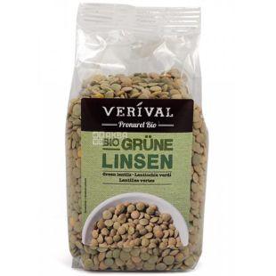 Verival, Bio Grune linsen, 0,25 кг, Верівал, Сочевиця зелена, органічна