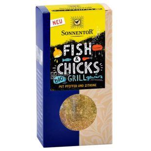 Sonnentor, Смесь специй к рыбе и птице гриль, органическая 55 г