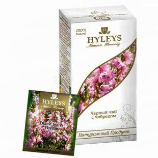 Hyleys Nature's Harmony, 25 пак, Чай чорний Хейліс Гармонія Природи, Чебрець
