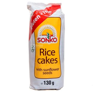 Sonko, Галети рисові з соняшниковим насінням, 130 г