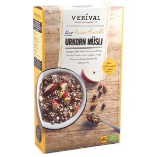 Verival, 325 г, Мюсли Веривал, смесь злаков, фрукты, орехи, органические, сухой завтрак, быстрого приготовления