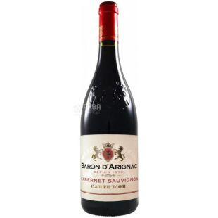 Baron d'Arignac, Cabernet Sauvignon IGP, Вино красное, 0,75 л
