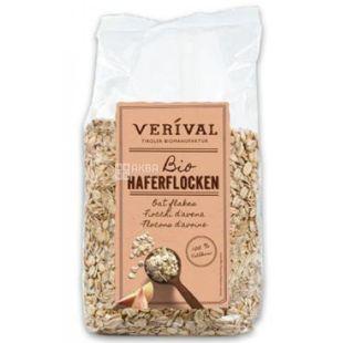 Verival, 500 г, Пластівці Верівал, вівсяні, органічні, сухий сніданок, швидкого приготування