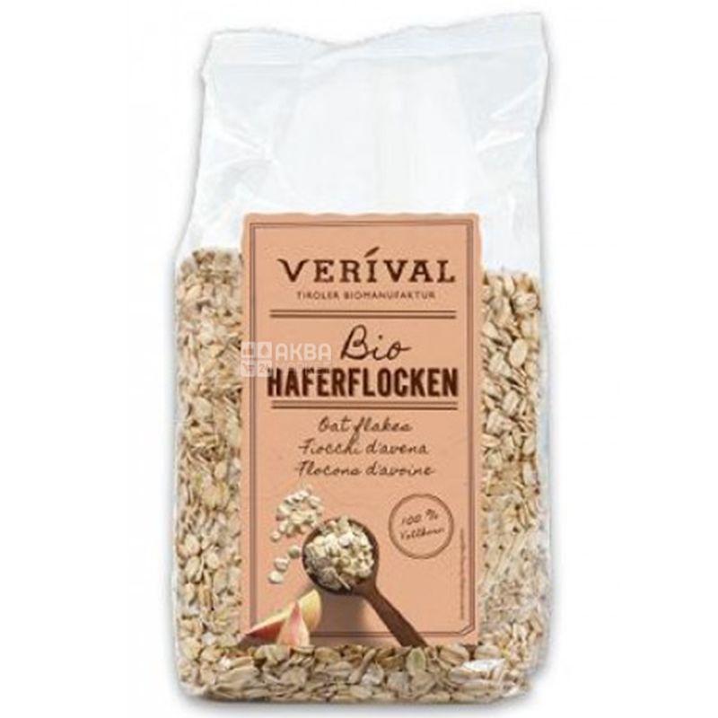 Verival, 500 г, Хлопья Веривал, овсяные, органические, сухой завтрак, быстрого приготовления