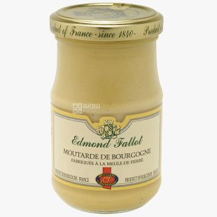 Edmond Fallot, горчица бургундская с белым вином, 210 г