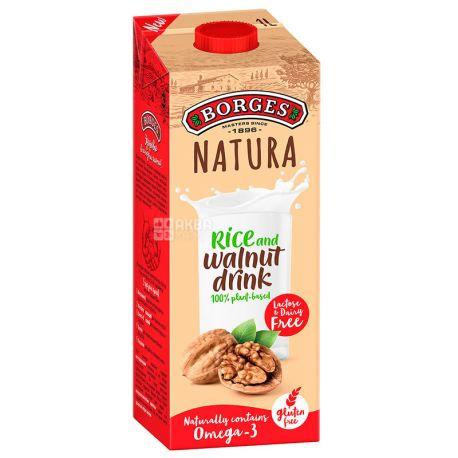 Borges, Rice and walnut drink, 1 л, Боргес, Напиток на основе грецкого ореха и риса, безлактозный