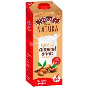 Borges, Rice and almond drink, 1 л, Боргес, Напій на основі мигдалю і рису, безлактозний