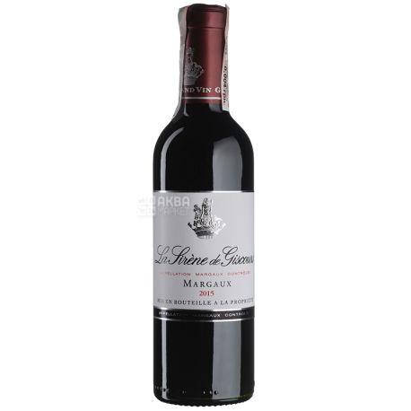La Sirene De Giscours 2015, Вино красное сухое, 0,375 л
