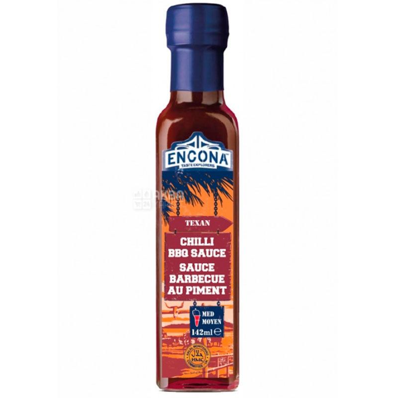 Encona, Texas Sauce, Chili BBQ, 142 ml