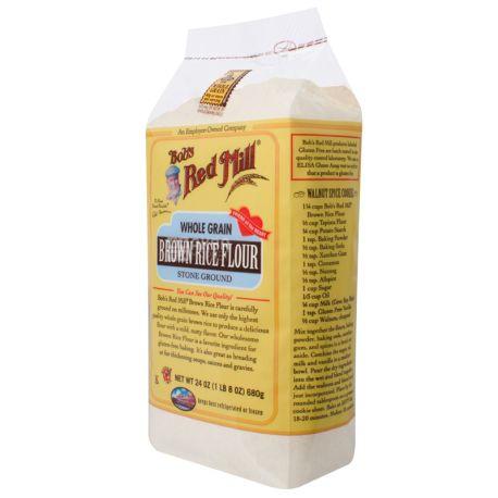 Bob's Red Mill, Brown Rice, 0,68 кг, Борошно Бобс Ред Мілл, з коричневого рису, без глютену