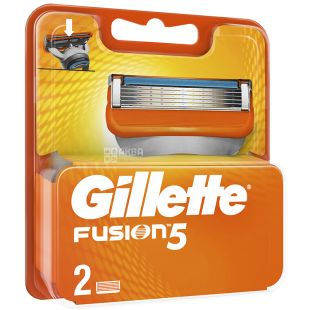 Gillette Fusion, Змінні картриджі для гоління, 2 шт.
