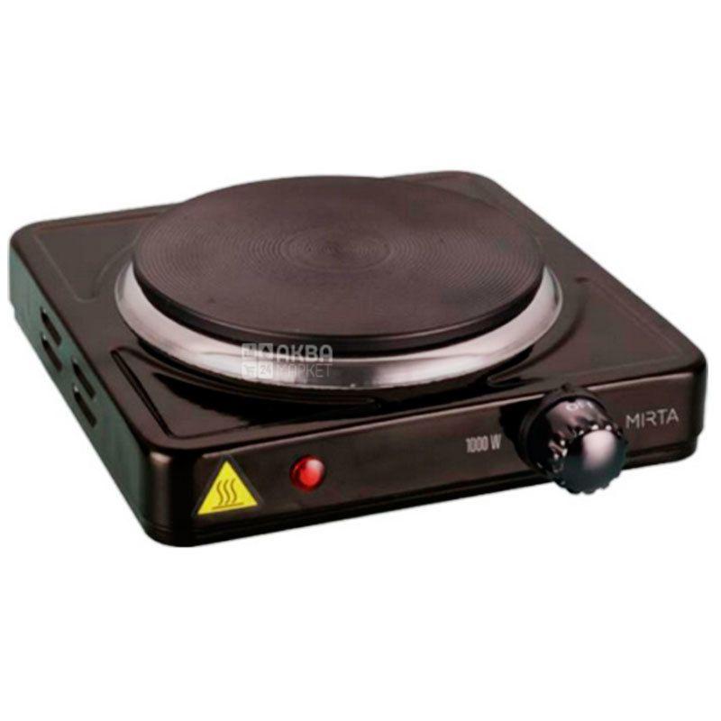 Mirta, HP-9910B, Плита настольная электрическая, черная, 21,4х21,4х7 см