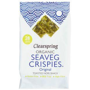 Clearspring, Водорості морські органічні, упаковка 3 шт. по 5 г