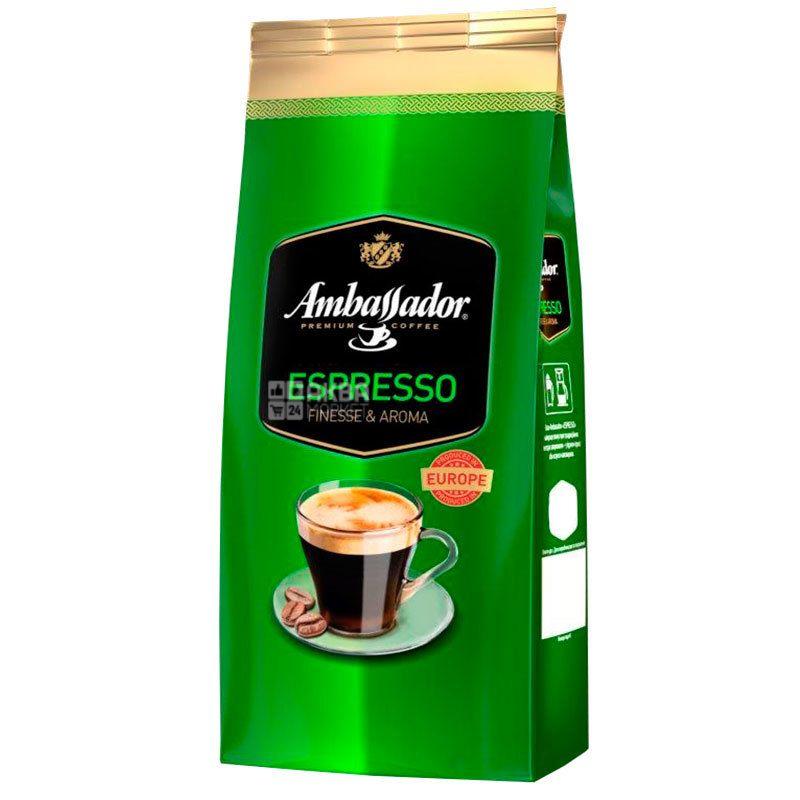 Ambassador Espresso, 1 кг, Кофе в зернах Амбассадор Эспрессо