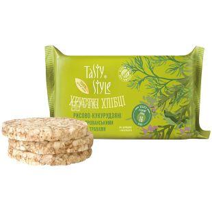 Tasty Style, Хлебцы рисово-кукурузные с травами, безглютеновые, 50 г