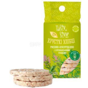 Tasty Style, Rice Corn Bread with Herbs, Gluten-Free, 100 g