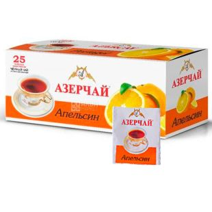 Azerçay, Orange, 25 pack * 2 g, Azerchay tea, black with citrus scent