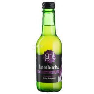 Go! Kombucha Darjeeling, Tea drink, non-alcoholic, 250 ml