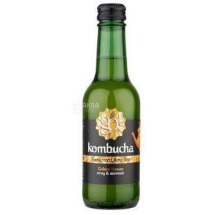 Go! Kombucha Golden Yunnan Tea, Non-alcoholic Tea Drink, 250 ml