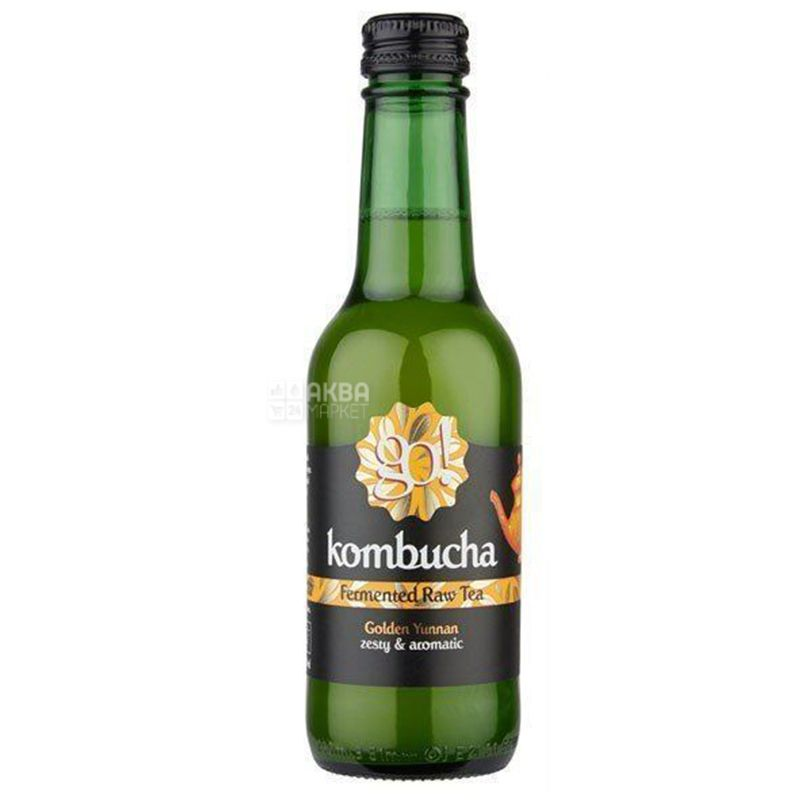 GO! Kombucha Golden Yunnan Tea, 0,25 л, Чай Гоу Комбуча, холодный, Голден ЮньняньТи