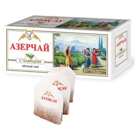 Azerçay, З чебрецем, 25 пак * 2 г, Чай чорний з травами
