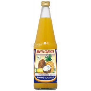 Beutelsbacher, Kokos-Ananas, Кокос-Ананас, 0,7 л, Бойтельсбахер, Нектар органический, стекло