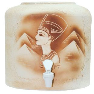 Dispenser for water Nefertiti, ceramics