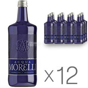 Acqua Morelli, 0,75 л, Упаковка 12 шт., Аква Мореллі, Вода мінеральна газована, скло