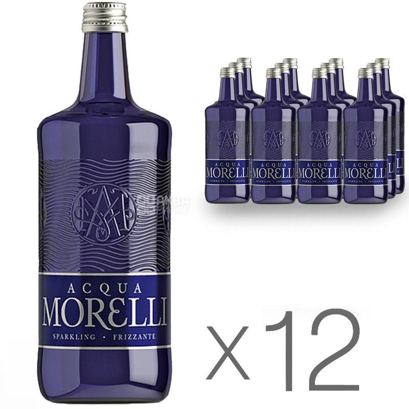 Acqua Morelli, 0,75 л, Упаковка 12 шт., Аква Морелли, Вода минеральная газированная, стекло