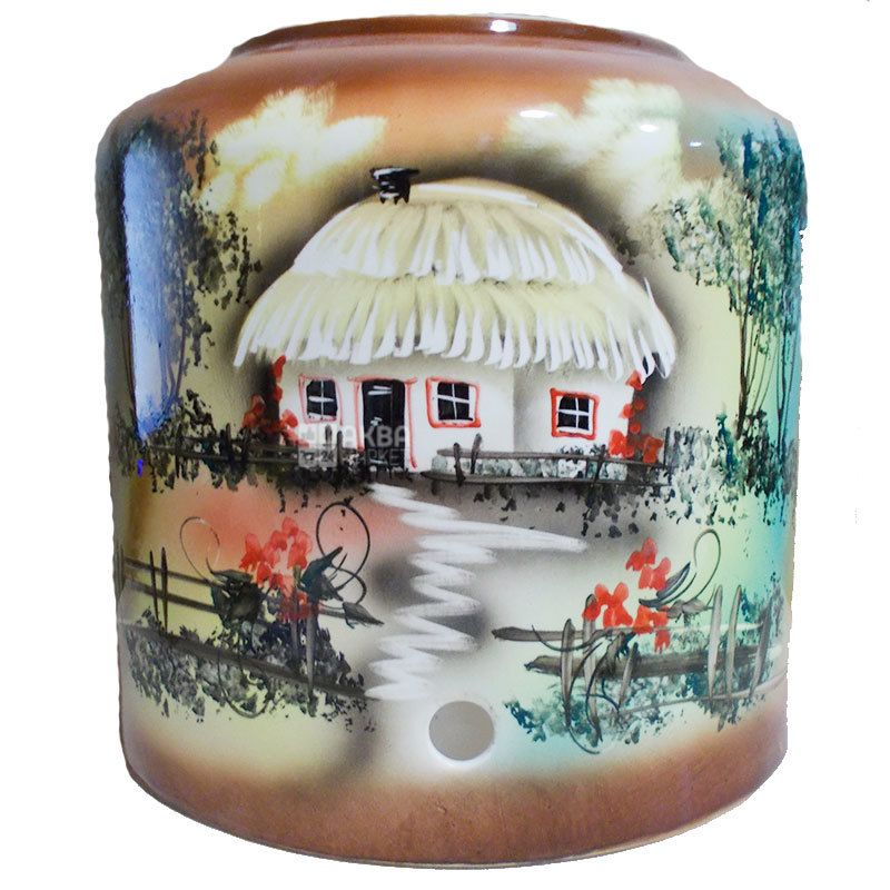 Диспенсер для воды Деревня, коричневый, керамика