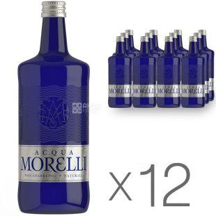 Acqua Morelli, 0,75 л, Упаковка 12 шт., Аква Морелли, Вода минеральная негазированная, стекло